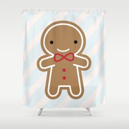 Cookie Cute Gingerbread Man Shower Curtain