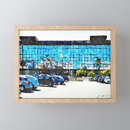 Pescara: parking and glass building of the railway station Framed Mini Art Print