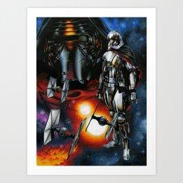 Kylo Ren and Captain Phasma Art Print