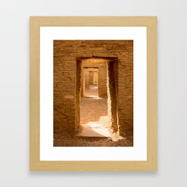 Chaco Ancient Doors Framed Art Print