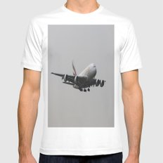 Emirates A380 Airbus Mens Fitted Tee MEDIUM White