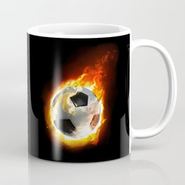 Soccer Fire Ball Coffee Mug