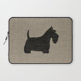 Scottish Terrier Scottie Silhouette Laptop Sleeve