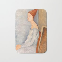 "Amedeo Modigliani ""Portrait of Jeanne Hébuterne"" Bath Mat"