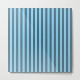 Baby Blue Stripes Pattern Metal Print