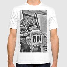 War is NOT the answer White Mens Fitted Tee SMALL