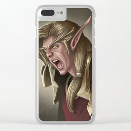 Elven Fury Clear iPhone Case