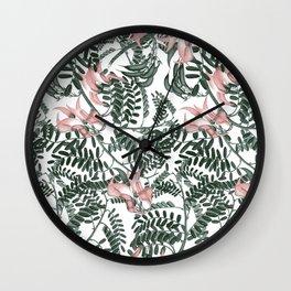 Botanical floral print - Sweet Pea Wall Clock
