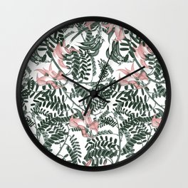 Botanical floral print - Sweet Pea Wall Clock