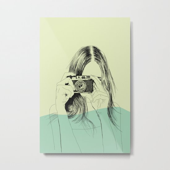 Woman Color 11 Metal Print