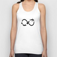 peter pan Tank Tops featuring Peter Pan Infinitely by Christa Morgan ☽