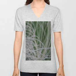 Abstract Image of Tropical Green Palm Leaves  Unisex V-Neck