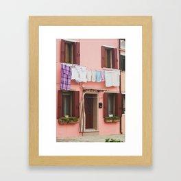Burano in winter IV Framed Art Print