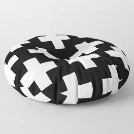 Swiss Cross W&B Floor Pillow