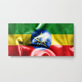 Ethiopia Flag Metal Print