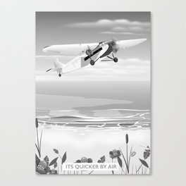 Its quicker by air Canvas Print