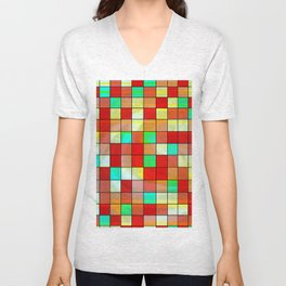 checkered II Unisex V-Neck