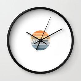 Gratitude zen meditation slogan quote Wall Clock