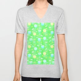 Lollipop and Candy Cheery Lime Green Confection Unisex V-Neck