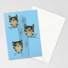 Owls (blue) Stationery Cards