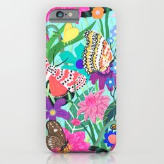 Butterflies and Moths Pattern - Blue Slim Case iPhone 6s