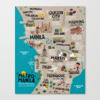 philippines Canvas Prints featuring Metro Manila, Philippines by Reg Silva / Wedgienet.net