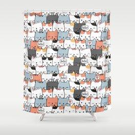 Cute Miao Shower Curtain