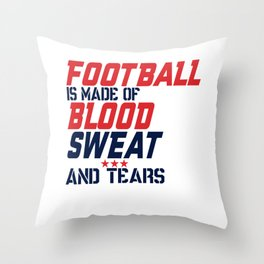 Football Is Made Of Throw Pillow