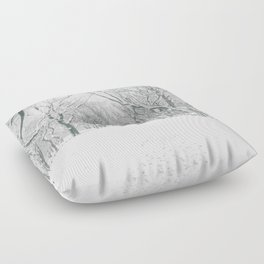 New York City Snow Floor Pillow