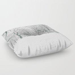 New York City Snow Floor Pillow