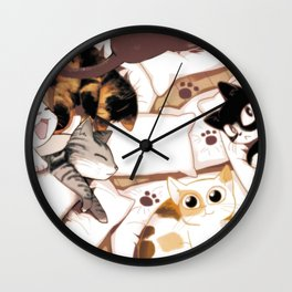 Let's Meow Together Wall Clock