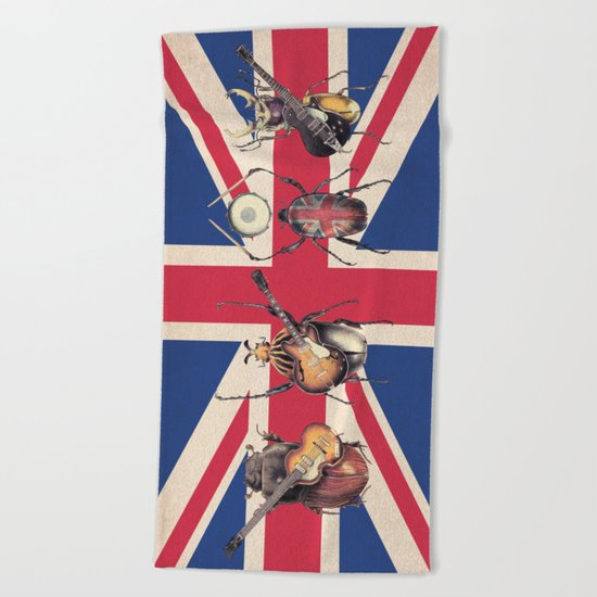 Meet the Beetles (Union Jack Option) Beach Towel