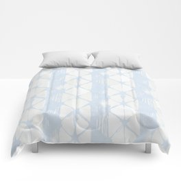 Simply Braided Chevron Sky Blue on Lunar Gray Comforters