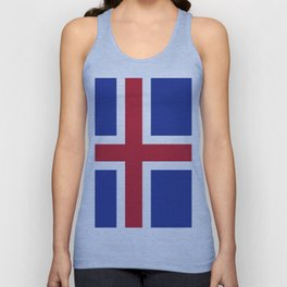Iceland flag emblem Unisex Tanktop