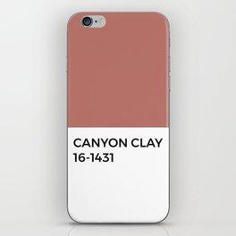 Canyon Clay Pink Pantone Chip iPhone Skin