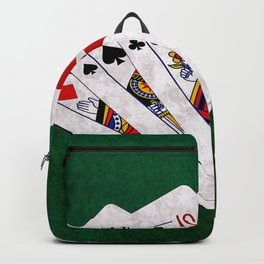 Poker Hand One Pair King Queen Ten Nine Backpack