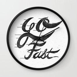 Go Fast Wall Clock