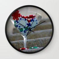 poker Wall Clocks featuring Poker by smittykitty