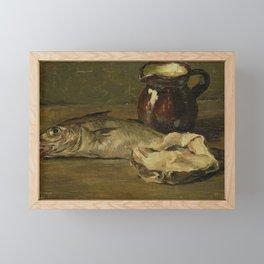 Still life with cod, Willem Roelofs (II), 1896 Framed Mini Art Print