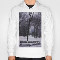 central park Hoodies featuring Central Park by Leah Moloney Photo