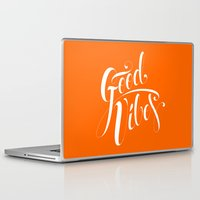 good vibes Laptop & iPad Skins featuring Good Vibes by Roberlan Borges