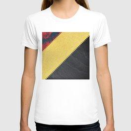 Luxurious black rock on golden foil T-shirt