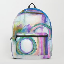Just the Three of Us, Abstract Art Painting Backpack
