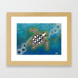 Sacred Sea Turtle 13 Framed Art Print
