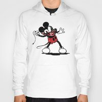 banksy Hoodies featuring Banksy Mouse by luis pippi