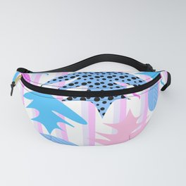 Leaf mix in pink and blue Fanny Pack
