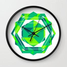 Geometric funny green pop art summer Wall Clock