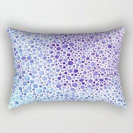 Dots - indigo ocean Rectangular Pillow