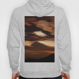 Cirrus clouds, morning, Antarctic winter landscape photograph Hoody