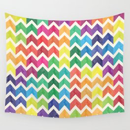 Watercolor Chevron Pattern IV Wall Tapestry